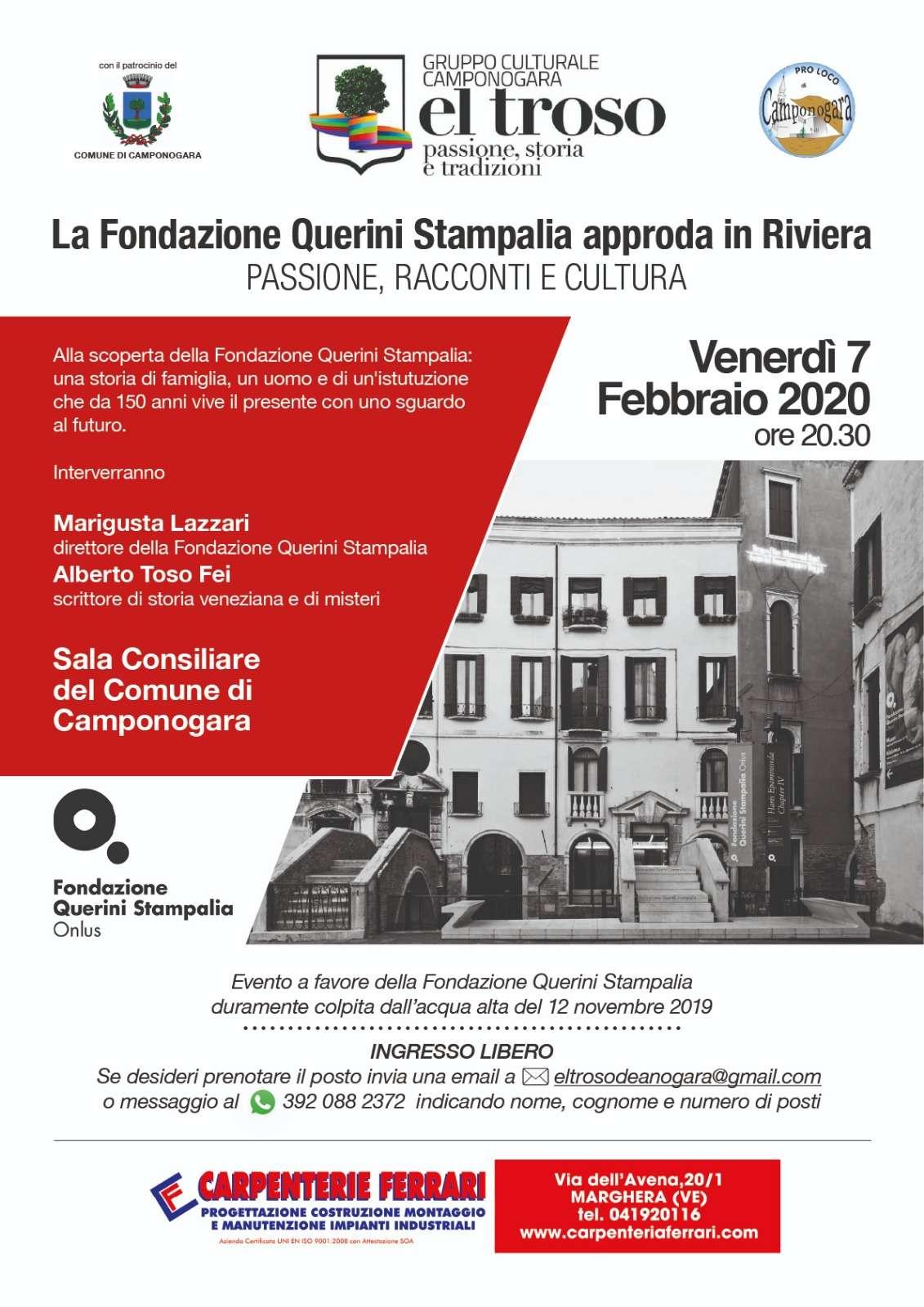 La Fondazione Querini Stampalia approda in Riviera