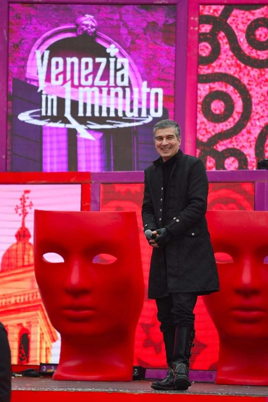 Alberto Toso Fei sul palco allestito in Piazza San Marco - Carnevale 2020